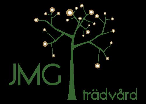 JMG Trädvård – Trädfällning, Stubbfräsning, Arborist, Beskärning, Trädgårdskötsel i Småland, Strömsnäsbruk, Markaryd, Vittsjö, Laholm Logotyp